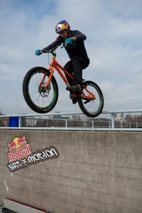 Danny Macaskill bike hop art of motion london