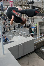 Phil Doyle - sideflip art of motion london