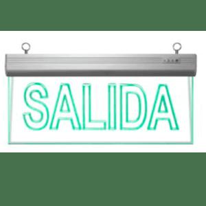 Señaletica emergencia LED SALIDA