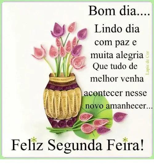 Bom dia com muita paz e alegria feliz segunda feira