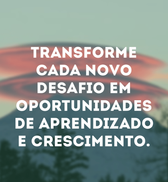 Transforme desafios em oportunidades