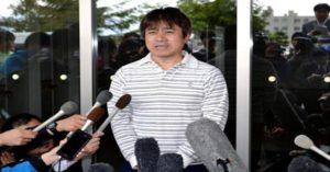 Takayuki Tanooka, boy's father, dando entrevista. Photo: reproduction