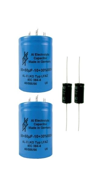 Parts Express 100uF 100uF 500V Polarized Electrolytic Multi-Section Can Capacitor