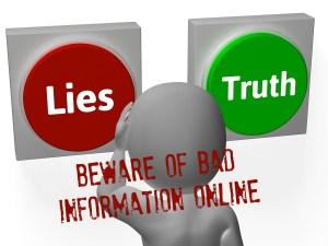 misleading bad information online