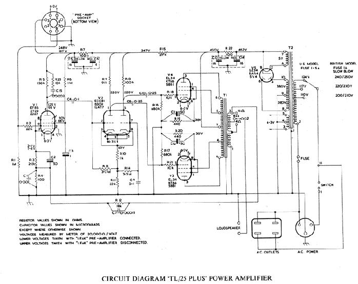Vintage Stereo Schematics Stereo Tube Amp Diagram