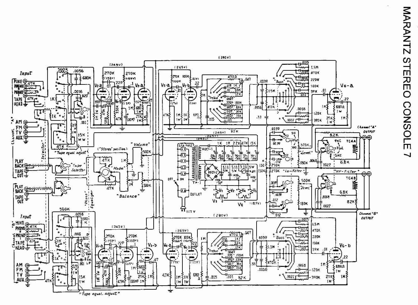 marantz 7 circuit diagram