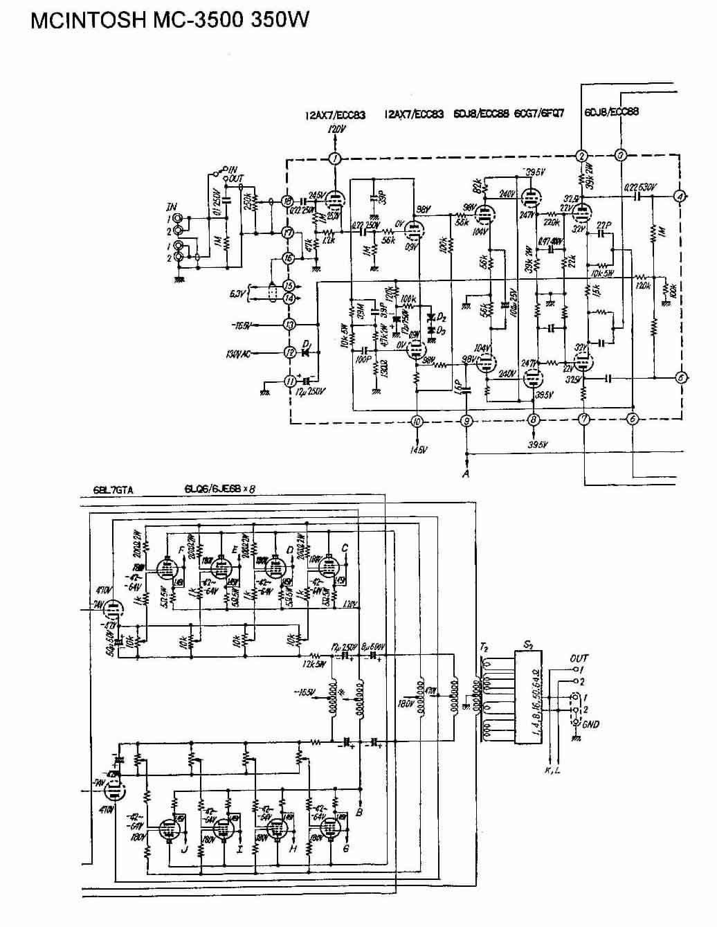 Vintage Tube Amplifier Schematic DIY Amplifier Schematic
