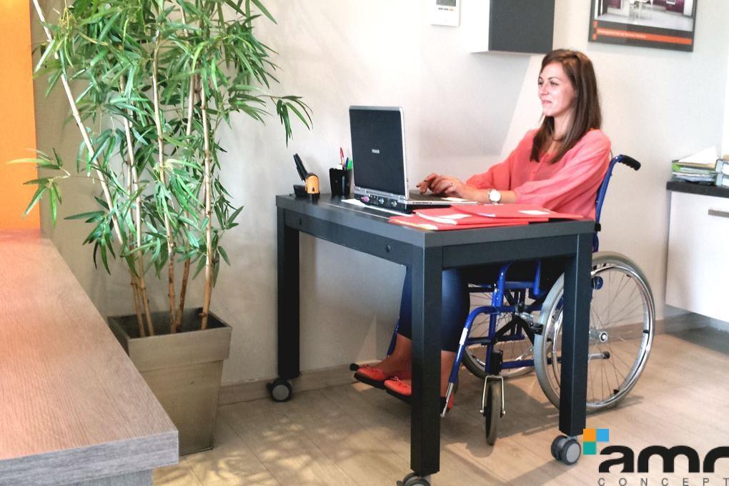 Espace De Travail Accessible Pour Les Personnes Mobilit