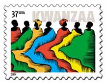 Kwanzaa postage stamp
