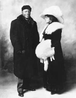 Jack Johnson with Etta Duryea