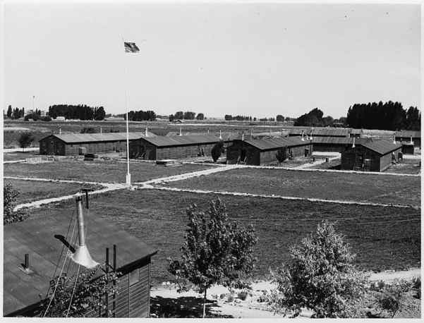 Housing in a Japanese Relocation Camp