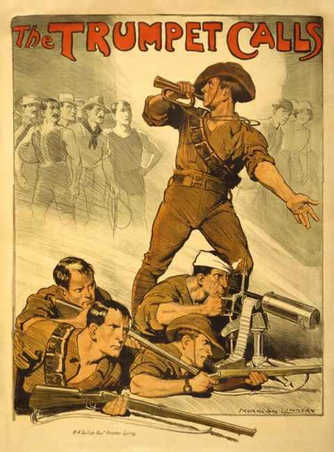 Australian recruitment poster from World War I.