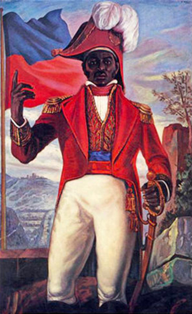 Mural of Dessalines in Port-au-Prince.