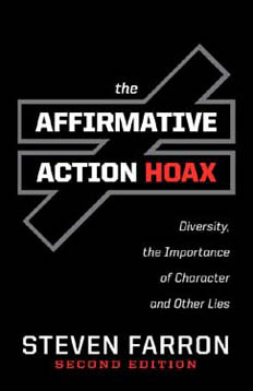 The Affirmative Action Hoax by Steven Farron