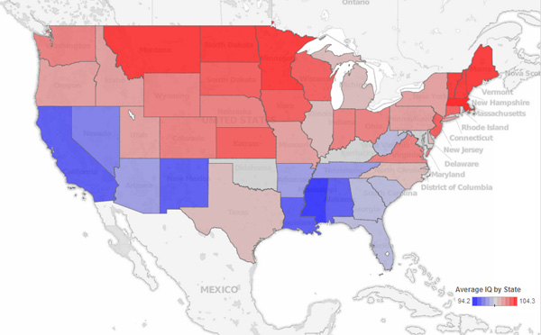 Maps Reveal Intelligence Levels Across The Us Based On Tweets