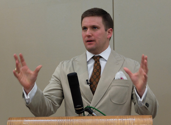 Richard Spencer speaking at the 11th American Renaissance conference.