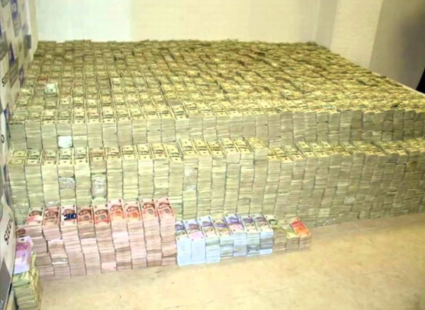 Not easily transported: $22 million in cash found during a cartel raid in Mexico.