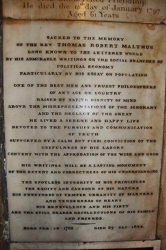 Malthus Gravestone