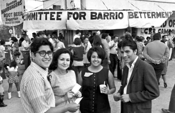 Mrs. Castro, third from the left, during her radical youth.