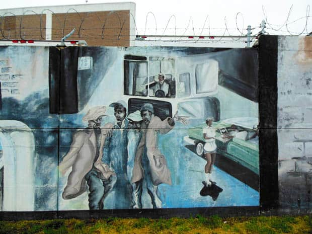 Anacostia Mural with Barbed Wire