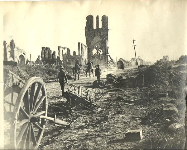 Devastation after WWI.