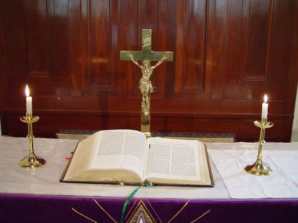 Crucifix and Bible
