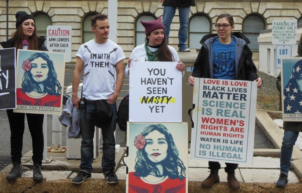 Anti-Trump Women's March Protesters