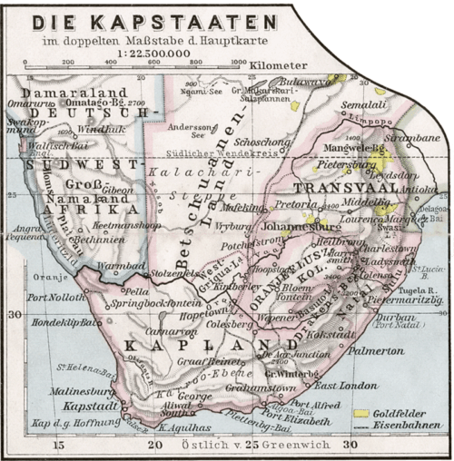 Old Map of South Africa