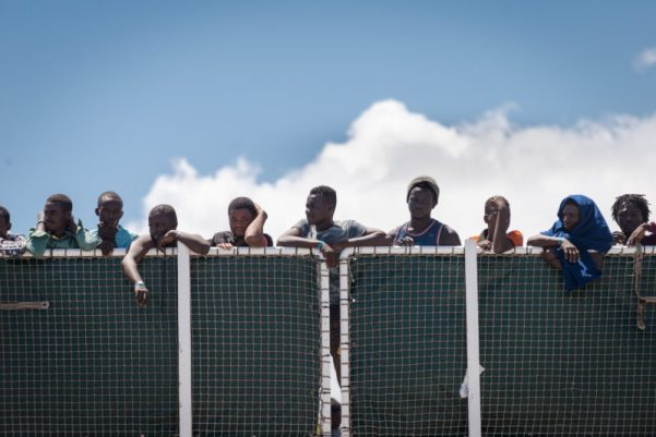 Migrants from Africa in Italy