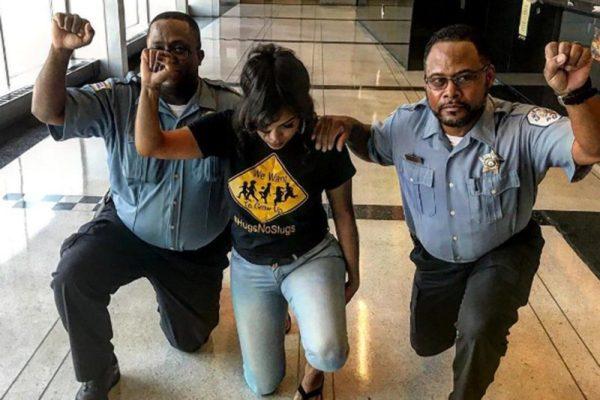 Black Power Sign Cops