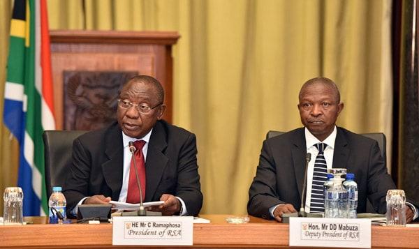 Cyril Ramaphosa and David Mabuza