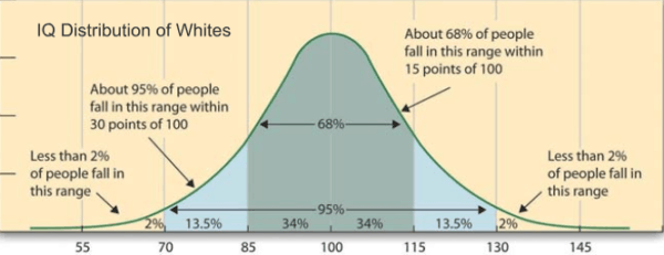 Distribution of White IQ