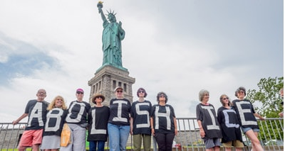 Abolish ICE Protest Shutdown Liberty Island