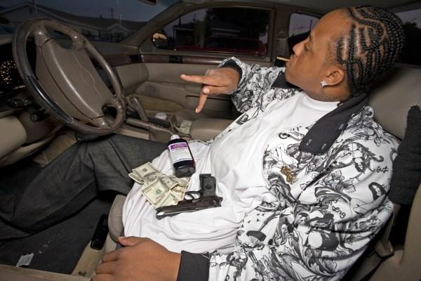 Black Gangster Selling Drugs