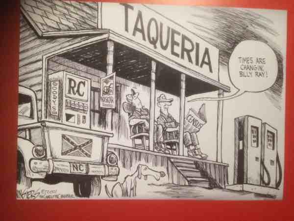 Confederate Taqueria Cartoon