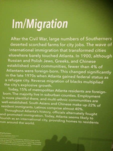 Immigration in ATL Museum
