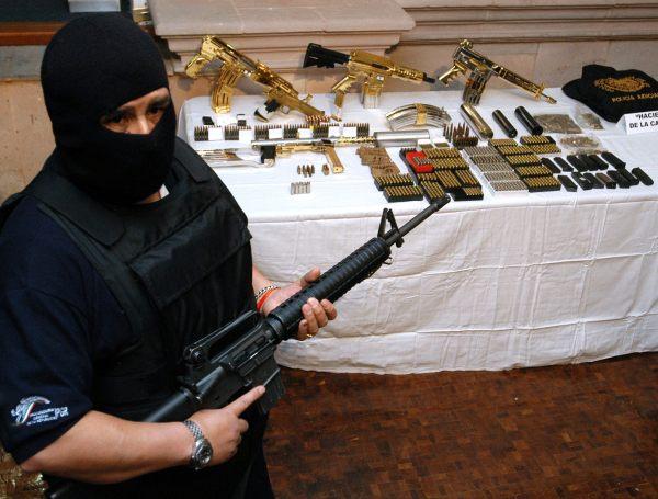 Mexican Gangster Gold Guns