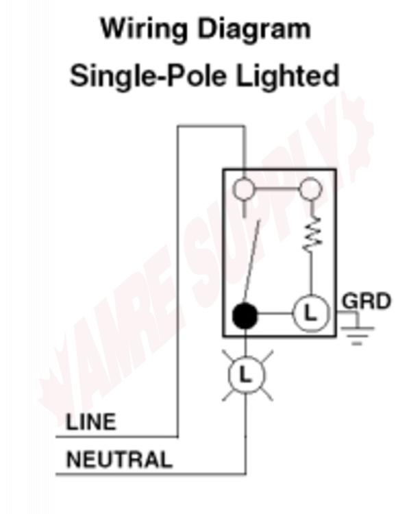 5611-2W : Leviton Decora Illuminated Wall Light Switch