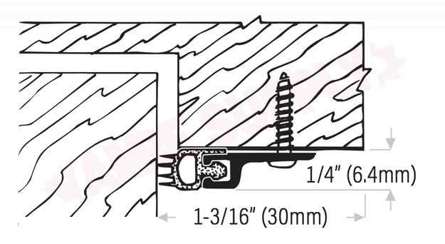 DS104W17R : DraftSeal Weatherseal Door Jamb Set, Aluminum