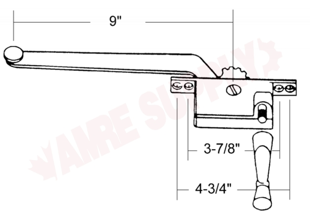 7-1368L : AGP Casement Window Operator, Aluminum, Left