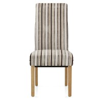 Roma Dining Chair Oak & Stripe - AMR Furniture