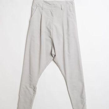 Pantalone a cavallo basso in fresco di lana