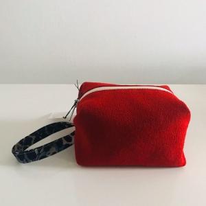 Beauty case origami rossa 10x10x15 cm