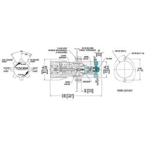 Tes Pressure Reducing Regulator 506,000 PSIG  Brass 44111624
