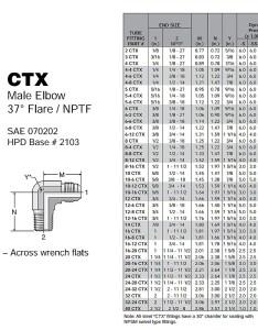 Jic and preloader parker ctx male elbow sizing chart also triplelok in npt brass rh amronintl