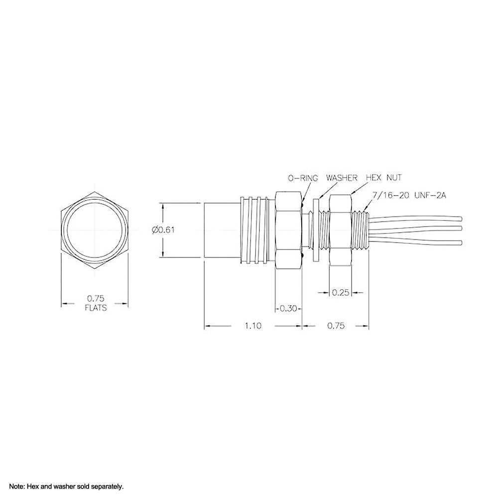 Micro Female Bulkhead Connector with 8 Sockets MCBH8F