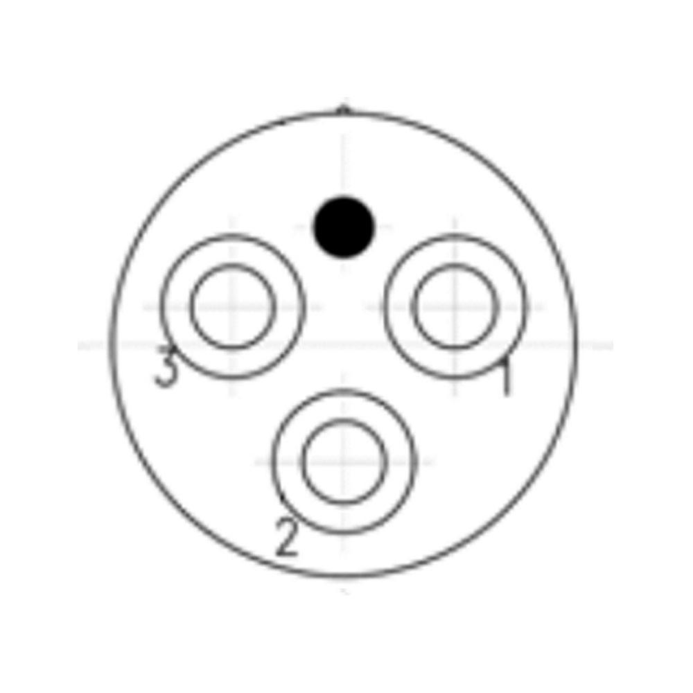 SEA CON Micro Wet-Con Male Bulkhead Connector with 3 Pins