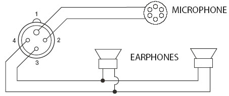 Amron 1406A Bone Conducting Earphone Microphone Assembly