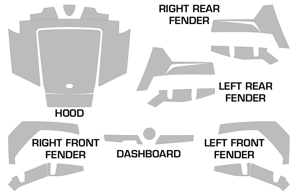 Polaris RZR 170 youth Graphic decal Kit for RZR170