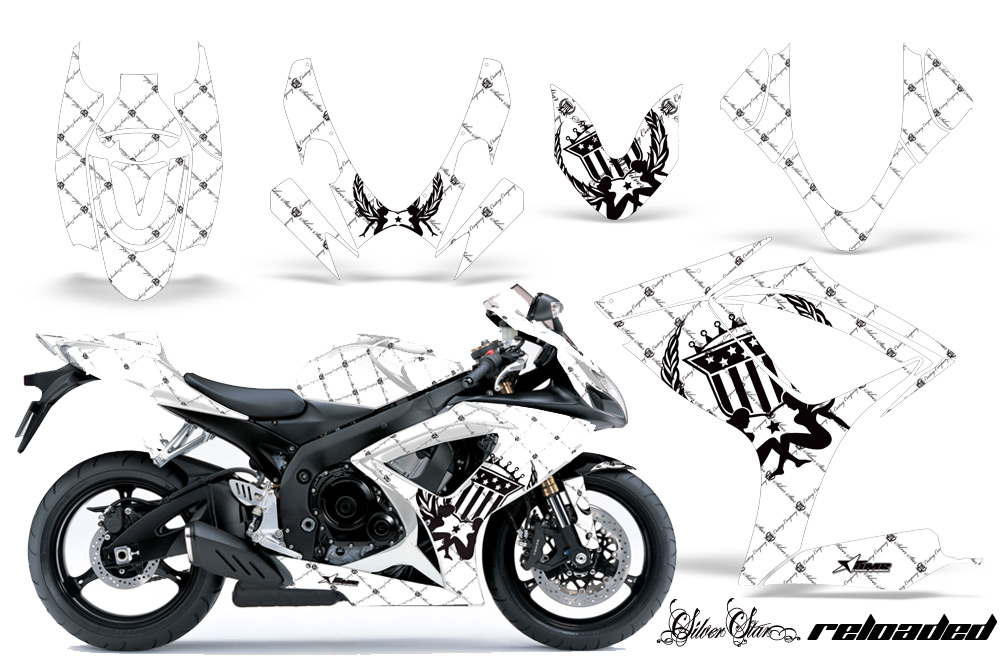 2006-2007 Suzuki GSX R600 R750 Street Bike Graphic decal